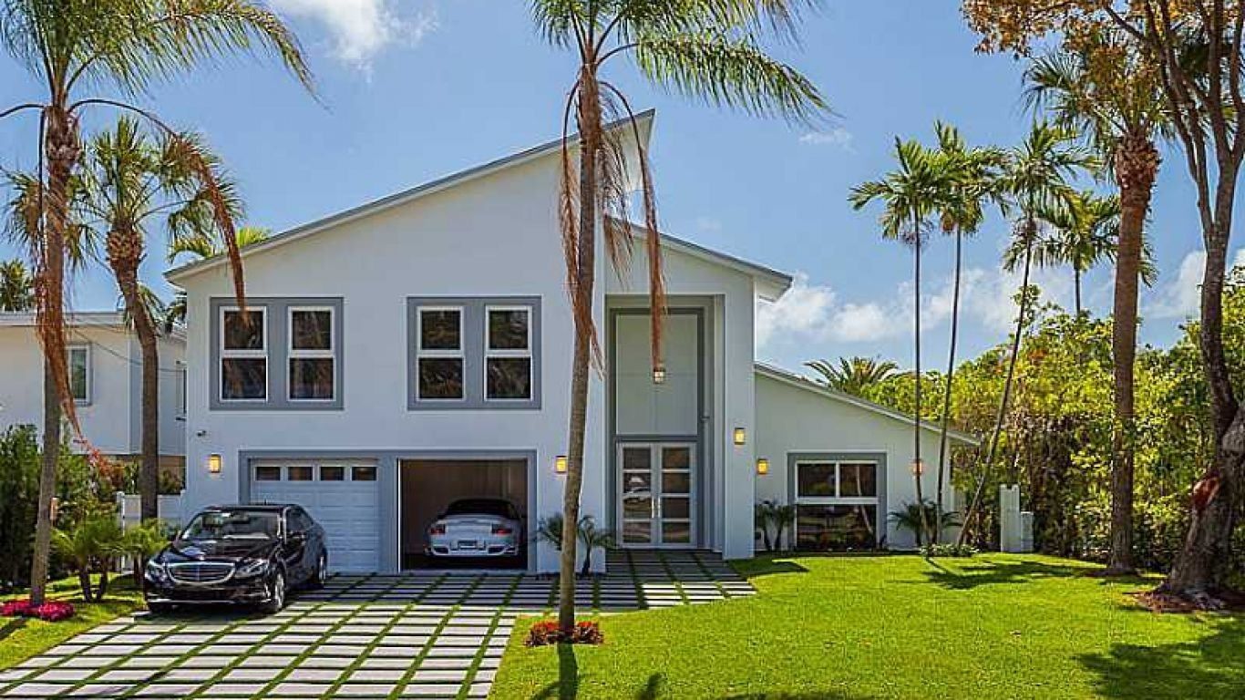 Villa Leslie, North Beach, Miami, USA
