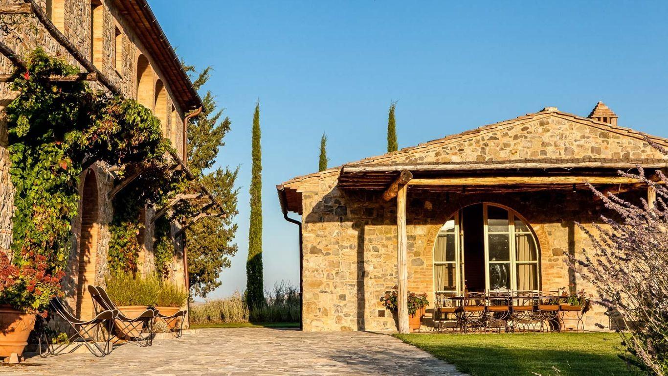 Villa Falcia, Montalcino, Tuscany, Italy