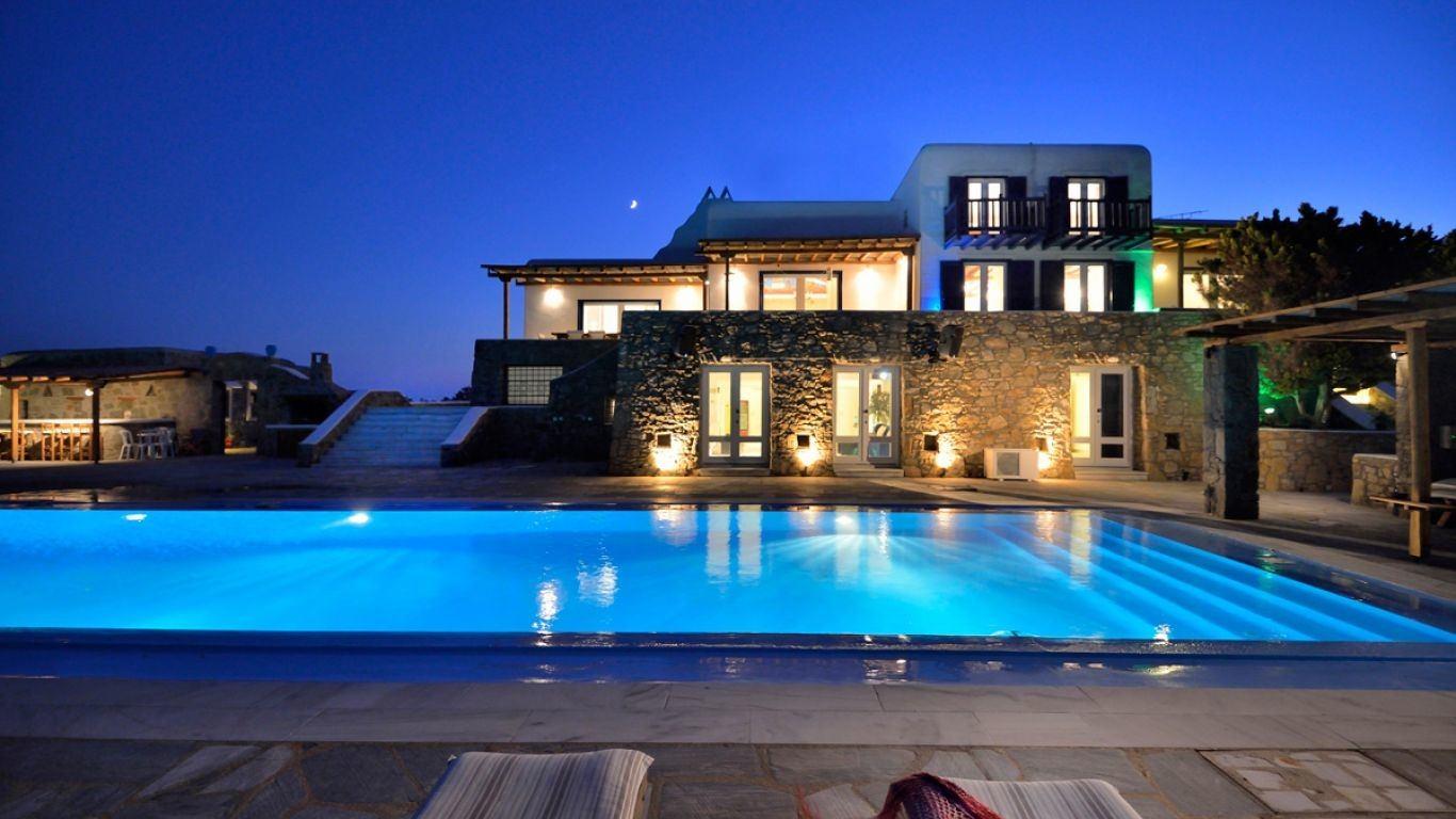 Villa Faith, Paradise Beach, Mykonos, Greece