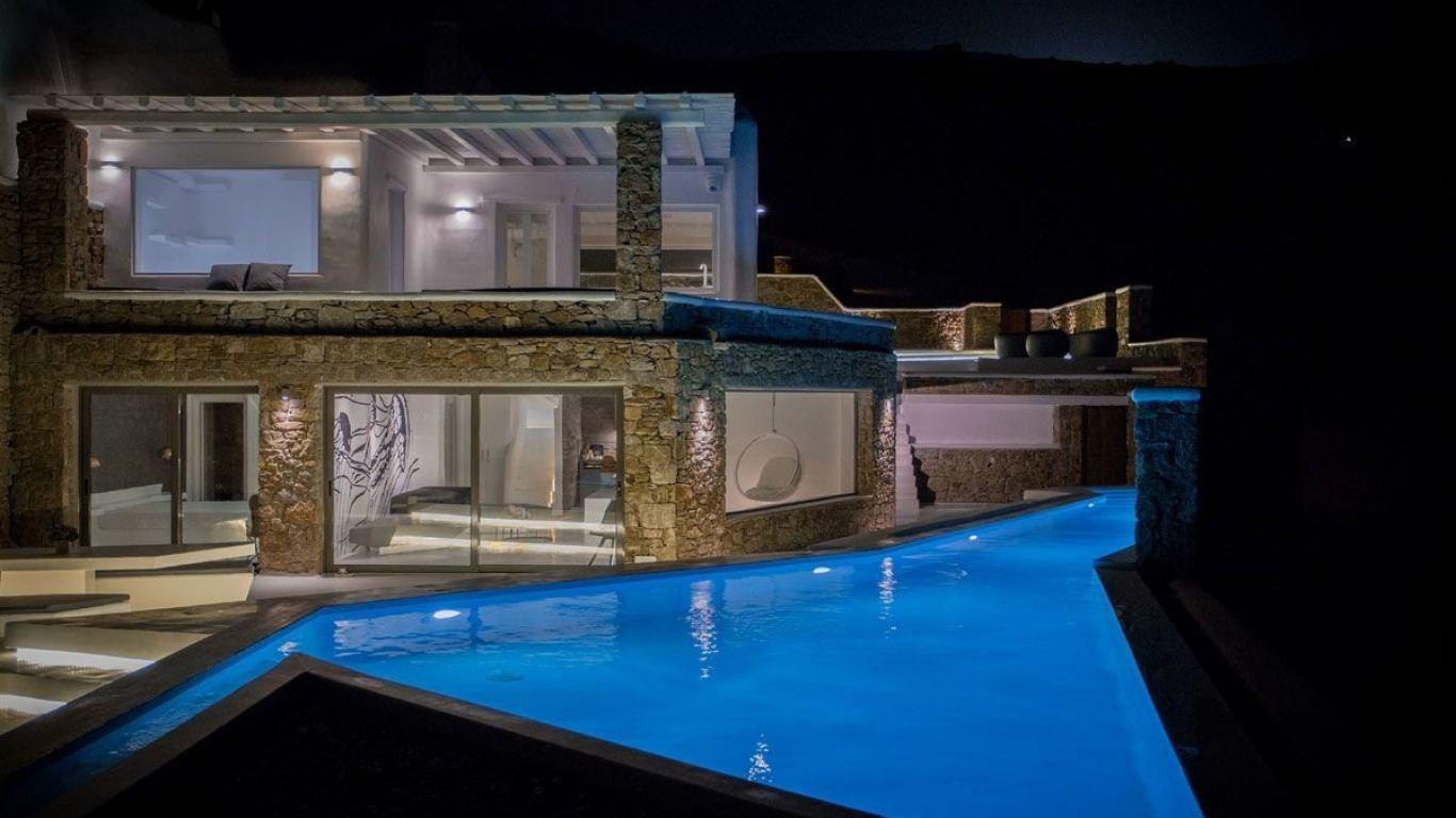 Villa Sandra, Ftelia Beach, Mykonos, Greece