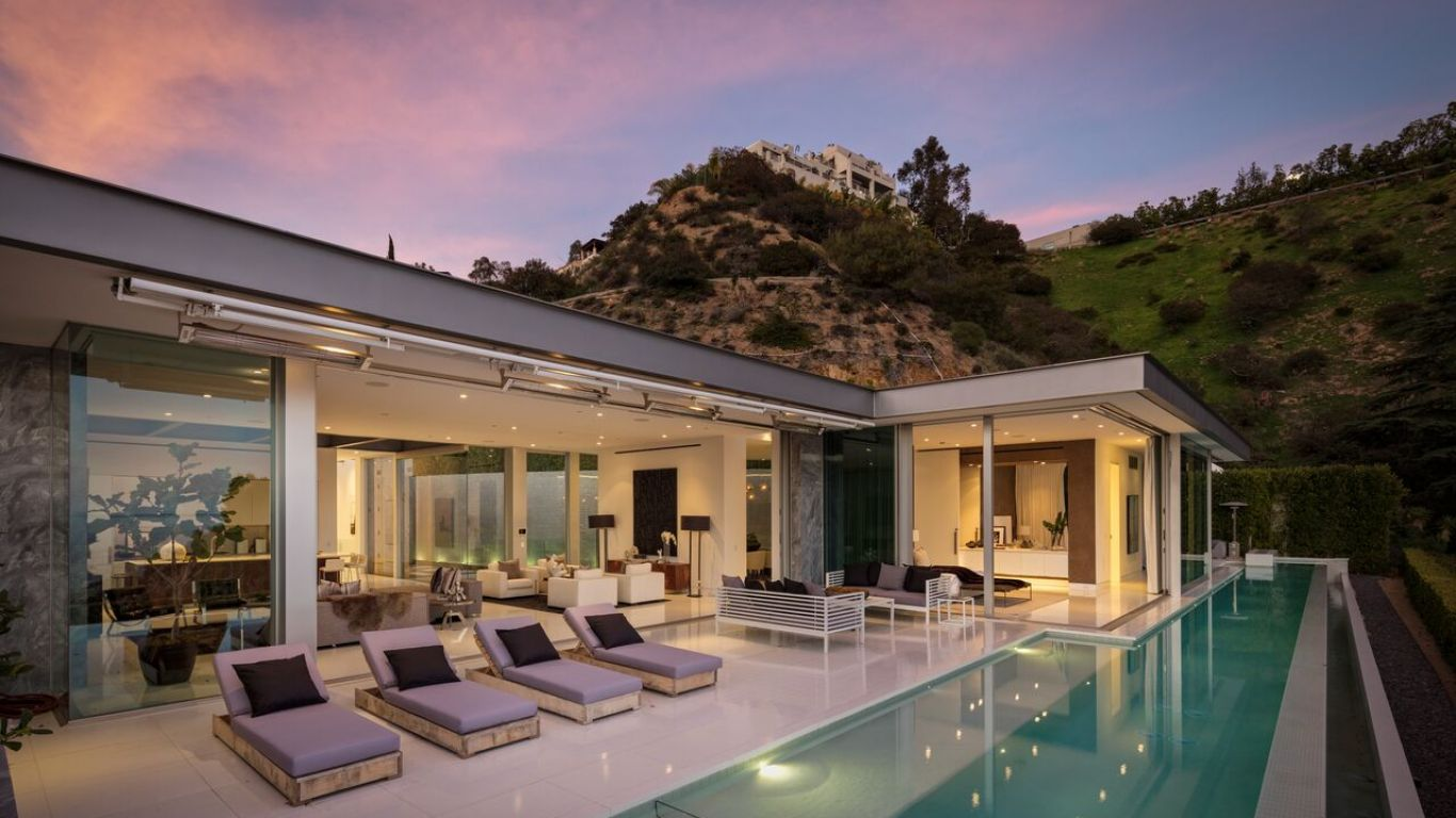 Villa Luna, Hollywood Hills, Los Angeles, USA