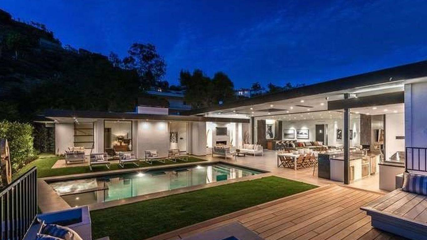 Villa Rihanna, Beverly Hills, Los Angeles, USA
